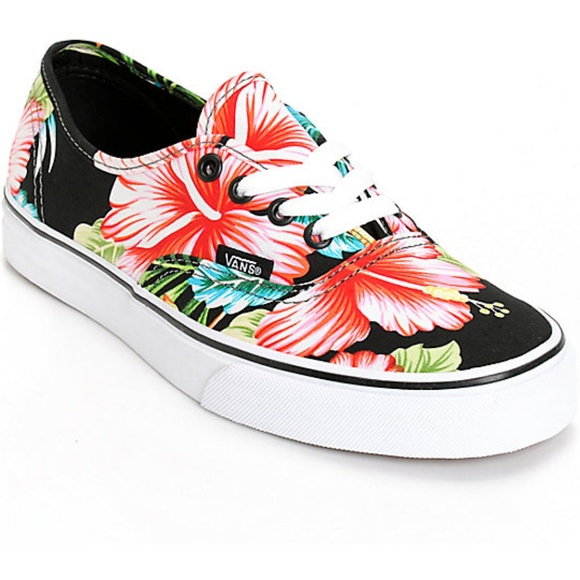 2a371990273908 Vans Authentic Hawaiian Floral Black Shoes. M 5afe45d436b9de45f56907d4